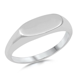 Silver Ring - Signet - $3.83