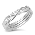 Silver Ring - Puzzle Ring - $4.46