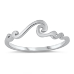 Silver Ring - Waves - $2.48