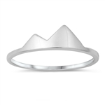 Silver Ring - Mountains - $2.40