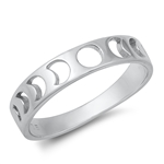 Silver Ring - Moon Phases - $3.44
