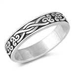 Silver Ring - Celtic Band - $4.95