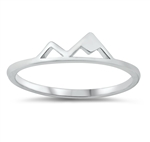 Silver Ring - Mountains - $2.14