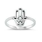 Silver Ring - Hand of God - $2.54