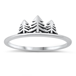 Silver Ring - Trees - $2.58