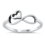 Silver Ring - Infinity Heart - $2.64