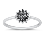 Silver Ring - Flower - $2.78
