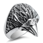Silver Ring - Eagle Head - $13.44