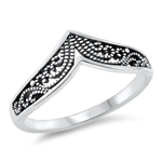 Silver Ring - Filigree Wave - $3.00