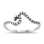 Silver Ring - Wave - $2.43
