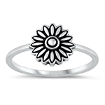 Silver Ring - Flower - $2.89