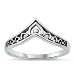 Silver Ring - Filigree V - $3.05