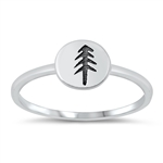 Silver Ring - Forest Tree - $2.68
