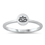 Silver Toe Ring - Lotus - $2.09