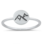 Silver Ring - Mountains - $2.47