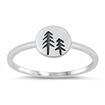 Silver Toe Ring - Forest Trees - $2.63