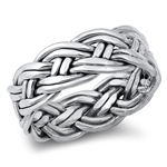 Silver Ring - Braided Band - $8.37