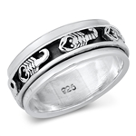Silver Ring - Scorpions - $9.37