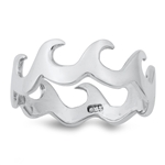 Silver Ring - Waves - $5.40