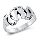 Silver Ring - Family Feet - $5.84