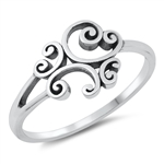 Silver Toe Ring - Abstract - $2.77