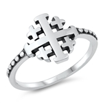 Silver Ring - Crosses - $3.40