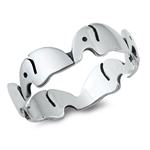 Silver Ring - Elephants - $3.45