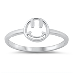 Silver Ring - Happy Face - $2.17