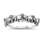 Silver Ring - Elephants - $3.66