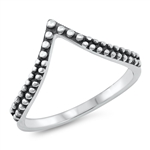 Silver Ring - V Shape - $2.95