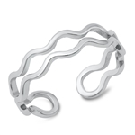 Silver Ring - Double Wavy Band - $3.10