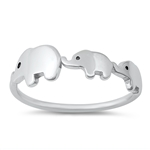 Silver Ring - Elephants - $3.68