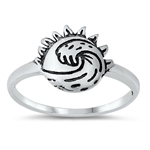 Silver Ring - Sun and Waves - $2.92