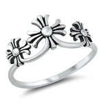 Silver Ring - Medieval Crosses - $2.64