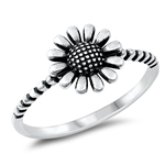 Silver Ring - Sunflower - $2.80