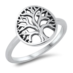 Silver Ring - Tree of Life - $2.76