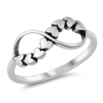 Silver Ring - Infinity Hearts - $2.90