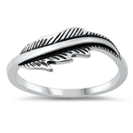 Silver Ring - Feather - $3.04