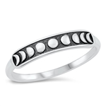 Silver Ring - Moon Phases - $3.10