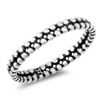 Silver Ring - Beads - $3.03
