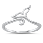 Silver Toe Ring - Whale Tail - $2.59