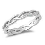 Silver Ring - Braid Band - $3.67