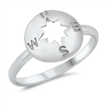 Silver Ring - Compass - $3.18