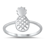 Silver Ring - Pineapple - $2.82