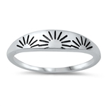 Silver Ring - Sunrise - $2.75