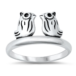 Silver Ring - Owls - $3.42
