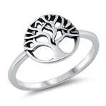 Silver Ring - Tree of Life - $2.92