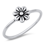 Silver Ring - Flower - $2.51