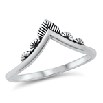 Silver Ring - V Shaped - $2.74