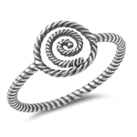 Silver Toe Ring - Spiral - $2.29